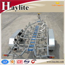Shandong high quality galvanized rc or jet ski or inflatable boat trailer